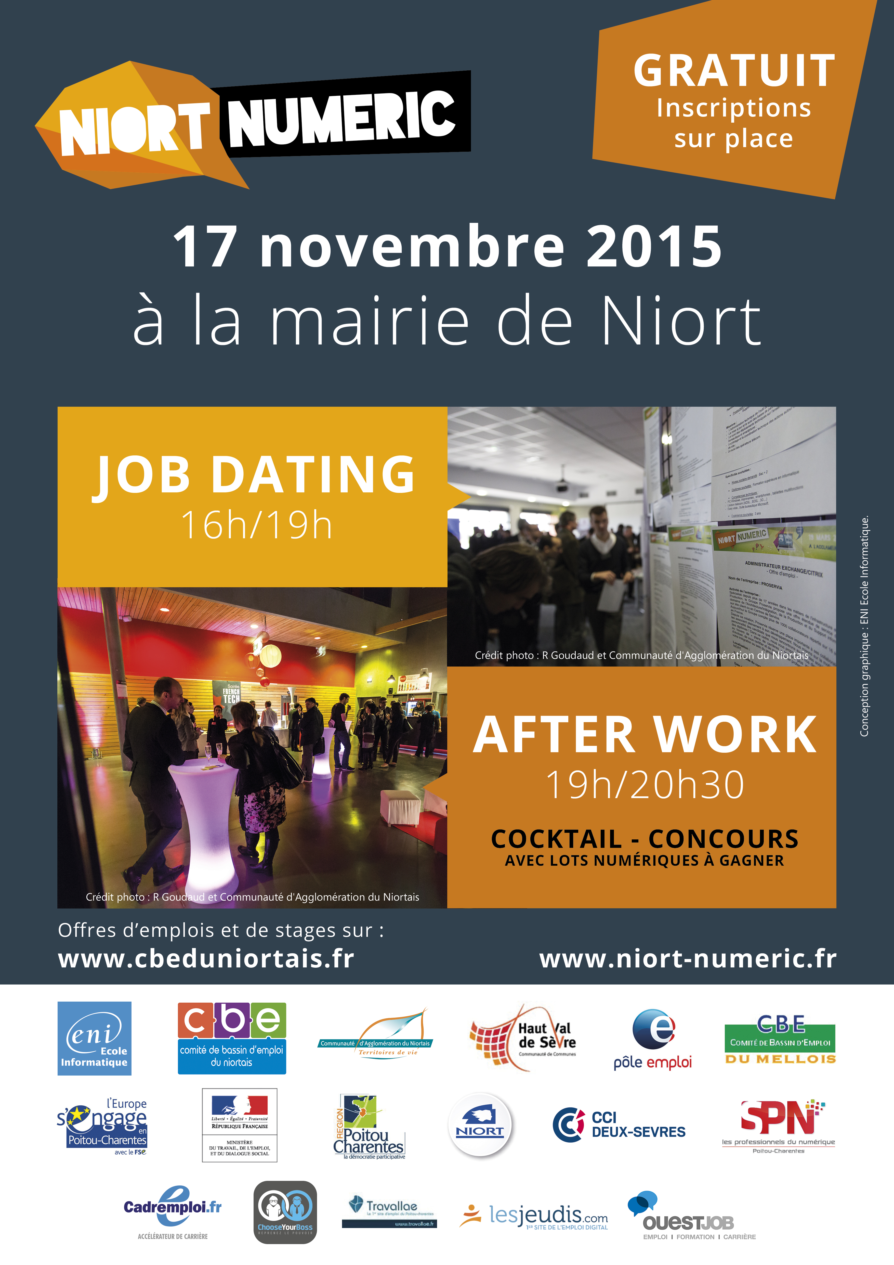 Affiche job dating Niort Numéric 2015