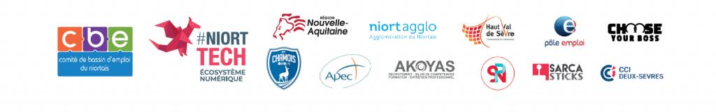 Logos partenaires job dating niort tech 2019
