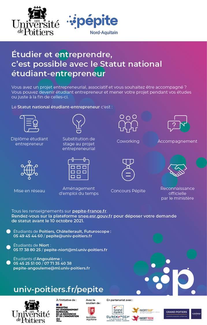 statut étudiant-entrepreneur